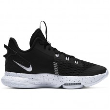 Nike LeBron Witness 5 Black White Metallic Silver - Krepšinio bateliai